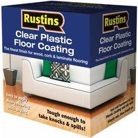 Rustins PCFS1000 Clear Plastic Floor Coating Kit Satin 1 Litre