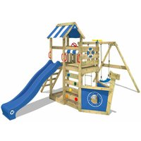 Climbing frame SeaFlyer with swing, slide and sandpit - Wickey