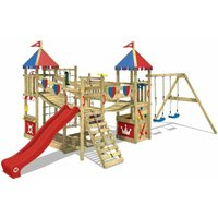 Climbing frame WICKEY Smart Queen with swing, slide, climbing wall