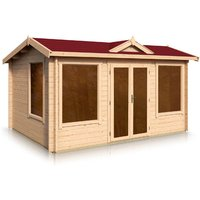 Timber Garden Trade - Clockhouse Apex Style Roof Log Cabin 2.66m x 3.16m x 44mm