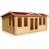 Clockhouse Apex Style Roof Log Cabin 5.3m x 3.8m x 44mm