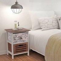 Clyda 2 Drawer Bedside Table by Multicolour - Brayden Studio