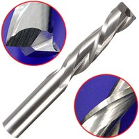 Insma - Cnc Cutting Double Flute Spiral Cutter Router Drill Bit For Wood Acrylic Pvc 6X22Mm New