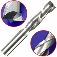 CNC Double Flute Spiral Cutter Router Bit Drill For Wood Acrylic PVC 6x22mm New WASHED