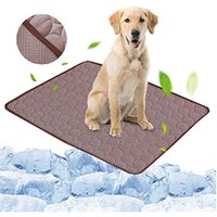 Coffee Pet Dog Puppy Self Cooling Mat Cushion Summer Cool Bed, S - LIVINGANDHOME
