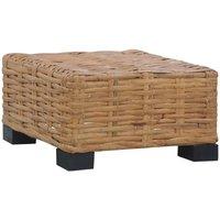 Zqyrlar - Coffee Table 47x47x28 cm Natural Rattan - Brown