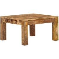 Zqyrlar - Coffee Table 60x60x35 cm Solid Mango Wood - Brown