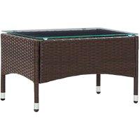 Zqyrlar - Coffee Table Brown 60x40x36 cm Poly Rattan - Brown