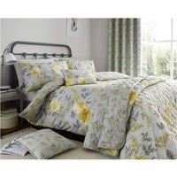 Colette Yellow King Duvet Cover Set Bedding Bed Quilt