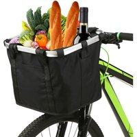 Asupermall - Collapsible Bike Basket Flower Printed Small Pet Cat Dog Carrier Bag Detachable Bicycle Handlebar Front Basket Cycling Front Bag