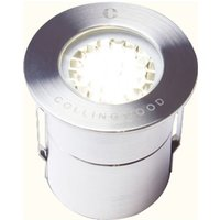 LED Low Profile Walkover Ground Light 38 Degree 1W - Warm White - Collingwood