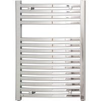 Columbus 800 x 600 Curved Chrome Heated Towel Rail - WHOLESALE DOMESTIC