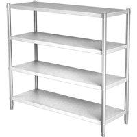 Commercial 4 Tier Storage Rack Unit Shelf Kitchen Stainless Steel Organizer 180x50x150cm