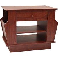 COMPANION - Storage Side / End Table with Magazine Rack - Large - Mahogany