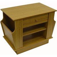 COMPANION - Storage Side / End Table with Magazine Rack - Oak