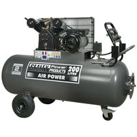 SAC3203B 200ltr Belt Drive Compressor 3hp with Front Control Panel - Sealey
