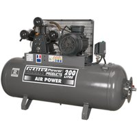 Sealey SAC32055B Compressor 200L Belt Drive 5.5hp 3ph