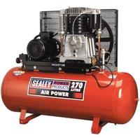 Sealey SAC62710B Compressor 270L Belt Drive 10hp 3ph 2-Stage