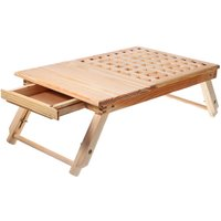 Kingso - Wooden Computer Desk Portable Lapdesk Table Bed Tray Adjustable