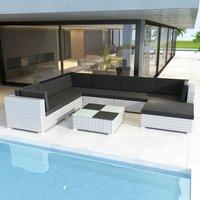 Connell 7 Seater Rattan Corner Sofa Set by Dakota Fields - White