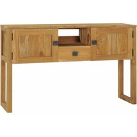 Console Table 120x32x75 cm Solid Teak Wood - YOUTHUP