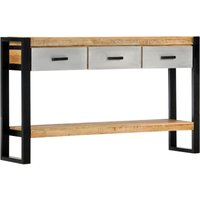 Console Table 130x30x76 cm Solid Mango Wood - Brown - Vidaxl