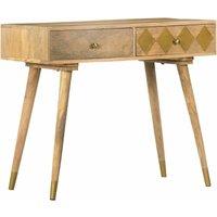Console Table 89x44x75 cm Solid Mango Wood - Brown - Vidaxl