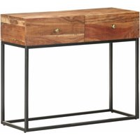 Youthup - Console Table 90x35x75 cm Rough Acacia Wood