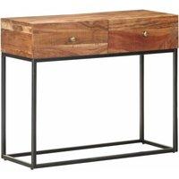 Vidaxl - Console Table 90x35x75 cm Rough Acacia Wood