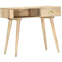 Console Table 90x45x75 cm Solid Mango Wood - Brown - Vidaxl