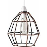 Metal Basket Cage Pendant Ceiling Light Shade - Copper - MIN