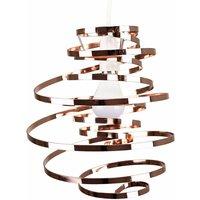 Metal Double Ribbon Spiral Swirl Ceiling Light Pendant - Cop