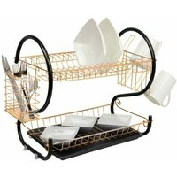 Copper 2 Tier Chrome Plate Dish Drainer
