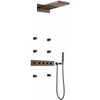 Copper recessed thermostatic shower mixer composition - Celaya