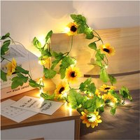 Copper Wire Lights, Rattan Flower Flower Lights, Sunflower Sunflower Sunflower Room Decor Lights, Rattan Lights
