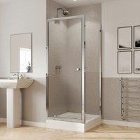 Coram GB 5 Pivot Shower Door Side Panel Enclosure 760x760mm 5mm Glass Tray
