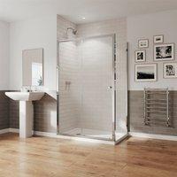 GB 5 Sliding Door Shower Enclosure Side Panel 1200 x 800 Easy Clean Glass - Coram