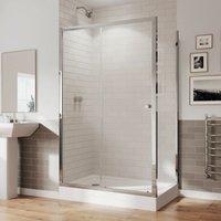 GB 5 Sliding Shower Door Side Panel Enclosure 1000x800mm 5mm Glass Tray - Coram