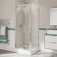 Optima 6 Bifold Shower Door Side Panel Enclosure 900 x 900 Tray 6mm Glass - Coram
