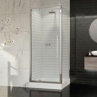 Premier 8 Pivot Shower Door Side Panel Enclosure 1000 x 800 Tray 8mm Glass - Coram