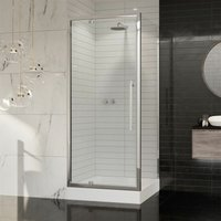 Coram Premier 8 Pivot Shower Door Side Panel Enclosure 760 x 760 Tray 8mm Glass