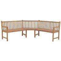 Garden Corner Bench 202x202x90 cm Solid Teak - VIDAXL