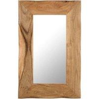 Cosmetic Mirror 50x80 cm Solid Acacia Wood