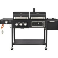CosmoGrill Outdoor Barbecue DUO Gas Grill + Charcoal Smoker Portable BBQ - COSMOGRILL ™