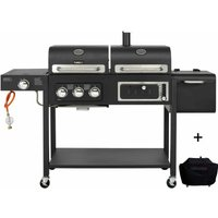 CosmoGrill Outdoor Barbecue DUO Gas Grill + Charcoal Smoker Portable BBQ with BBQ cover - COSMOGRILL ™