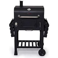 CosmoGrill Outdoor XL Smoker Barbecue Charcoal Portable BBQ Grill Garden - Black