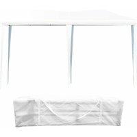 Tente de Réception Tente Tonnelle de Jardin Pliante Pavilion Pliable Chapiteau Imperméable 3 x 6 x 2,5 cm Bleu - Costway