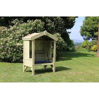 Cottage Arbour - Seats 2, wooden garden bench - CHURNET VALLEY