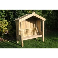 Cottage Arbour - Seats Three, wooden garden bench