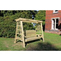 Cottage Swing - Sits 3, wooden garden swinging seat hammock - CHURNET VALLEY